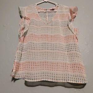Liz Claiborne Polka Dot Shear Shirt